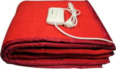 LeoSpark Plain Single Blanket Red