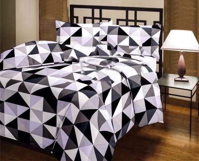 Factorywala Checkered Double Dohar White, Black