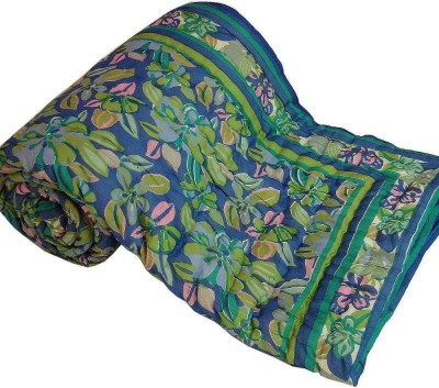 Bagrastore Floral Double Quilts & Comforters Green