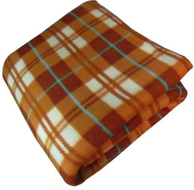 Wonder Collection Checkered Single Blanket Brown