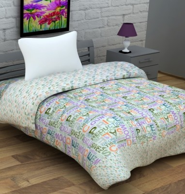 Enfin Homes Abstract Single Quilts & Comforters Light Green