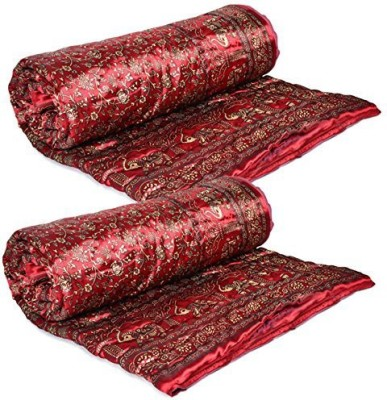 Satchitanand Floral Single Quilts & Comforters Maroon