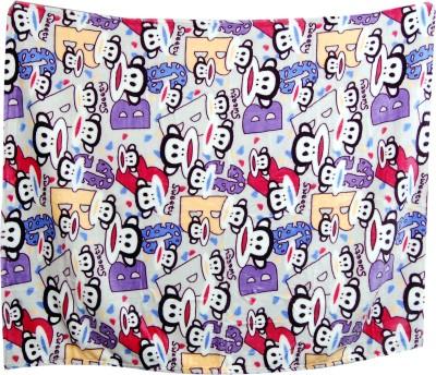 U & Me Cartoon Single Top Sheet Multicolor