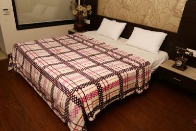 Tima Checkered Single Blanket Pink