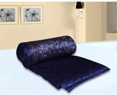 Chelsi Printed Double Quilts & Comforters Blue