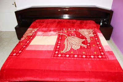Recron Certified Floral Double Blanket Red