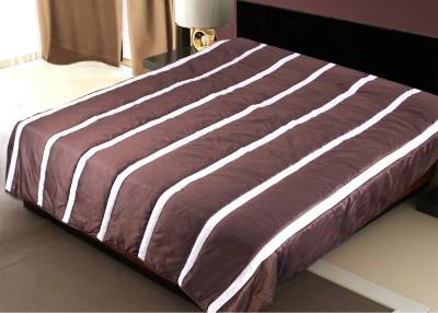 Zikrak Exim Striped Double Dohar Brown, White