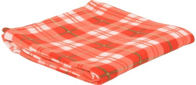 NK Handlooms Checkered Single Blanket Red
