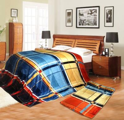Aapno Rajasthan Checkered Single Blanket Multicolor