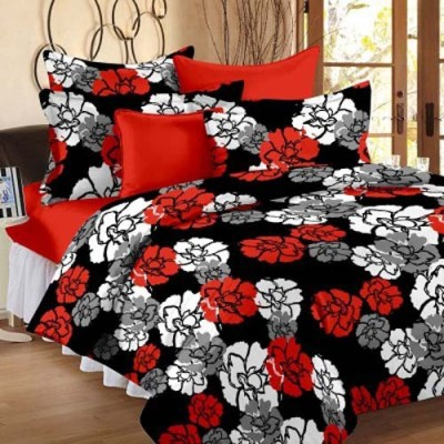 GLOW Floral Single Quilts & Comforters Black