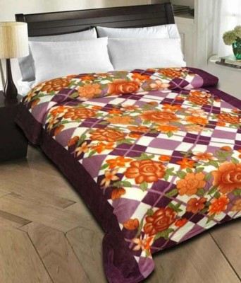 Shiv Fabs Floral Single Blanket Multicolor
