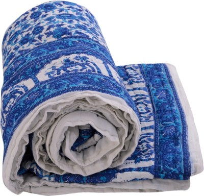 Sellstra Floral Single Quilts & Comforters Blue