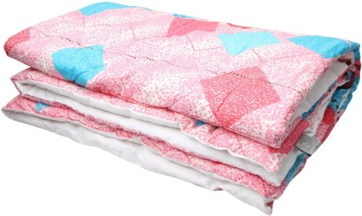 Coco Bee Geometric Single Quilts & Comforters Pink, Blue