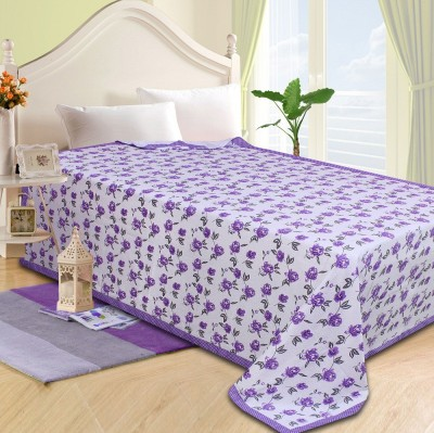 The Intellect Bazaar Floral Single Top Sheet Purple