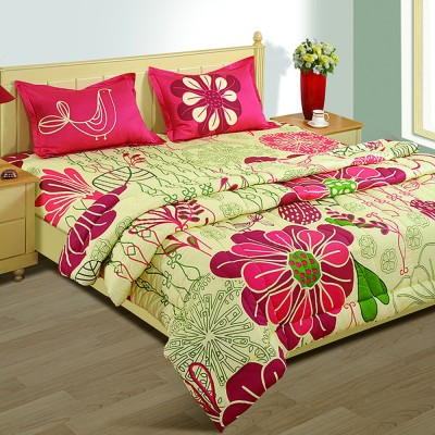 House This Floral Double Quilts & Comforters Pink