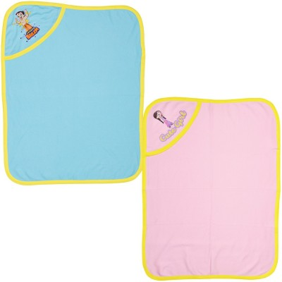 Chhota Bheem Cartoon Single Hooded Baby Blanket Multicolor