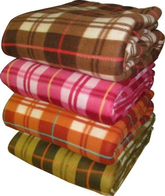 Ndecor Checkered Single Blanket Multicolor