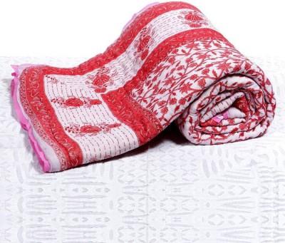 KRG ENTERPRISES Floral King Quilts & Comforters Pink