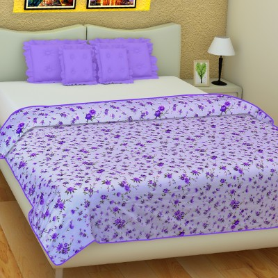 SLEEP N DREAM Floral Double Dohar Purple