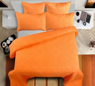 Shahenaz Home Shop Plain King Quilts & Comforters Orange