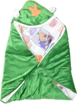 Trendz Home Furnishing Cartoon Crib Dohar Green
