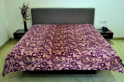 Welhouse India Floral Double Blanket Purple