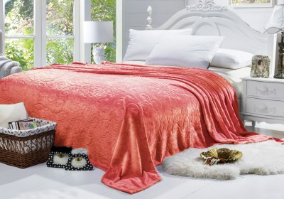 Bombay Dyeing Floral Double Blanket Orange