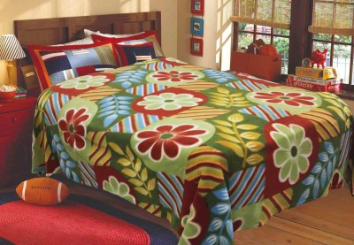 R home Floral Double Blanket Multiclour
