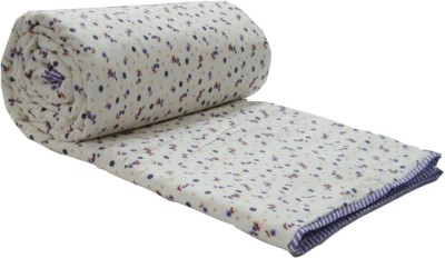 Snuggle Floral Double Quilts & Comforters Purple, White