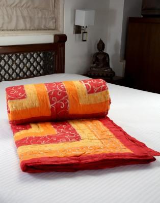 Jodhaa Floral, Geometric Double Quilts & Comforters Red, Orange