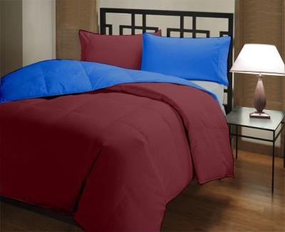 Comfylite Plain Single Duvet Maroon, Dark Blue
