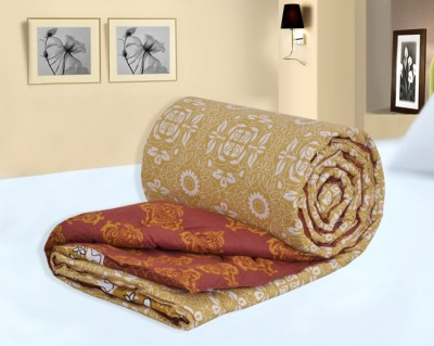 Salona Bichona Abstract Single Quilts & Comforters Gold
