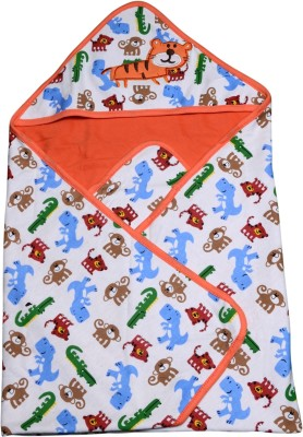 Offspring Animal Single Hooded Baby Blanket