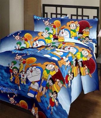 Furry Cartoon Single Dohar Multicolor