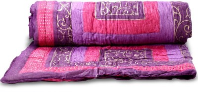 Bagru Crafts Embroidered Single Quilts & Comforters Purple