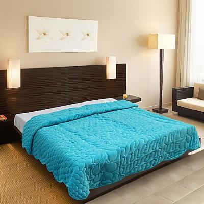 Needlecrest Plain Queen Quilts & Comforters Blue