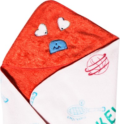 Utc Garments Cartoon Single Hooded Baby Blanket Orange, Green, Blue, Red