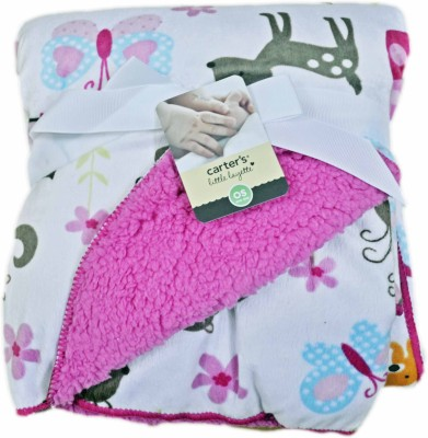 Babysid Collections Self Design Single Hooded Baby Blanket Multicolored