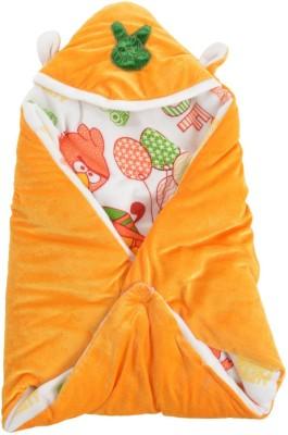 Trendz Home Furnishing Cartoon Crib Dohar Orange