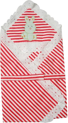 U & Me Striped Single Top Sheet Red, White