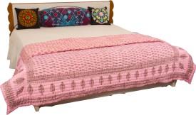 Chaman Handicrafts Self Design Queen Quilts & Comforters Multicolor