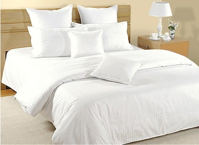 Swayam Striped Double Quilts & Comforters White