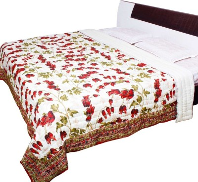 Me Home Floral Double Quilts & Comforters Multi-Color