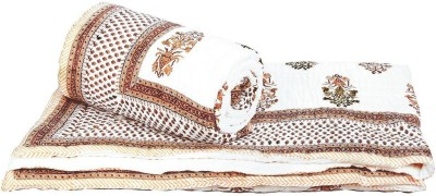 Tradition India Damask Double Quilts & Comforters White and Brown
