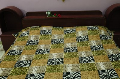 TEX N CRAFT 3D Printed Double Blanket Yellow