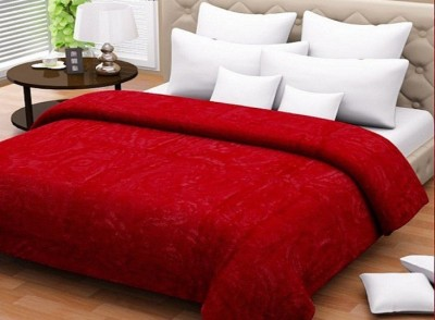 Wrap Paisley Double Blanket Red