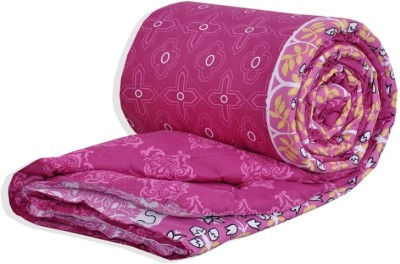 Salona Bichona Abstract Single Quilts & Comforters Pink