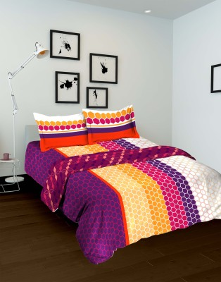 Tomatillo Geometric Double Quilts & Comforters Pink