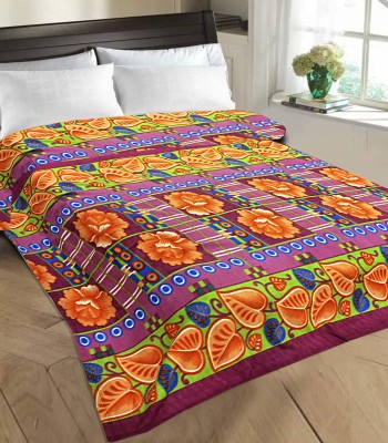 Tex n Craft Printed Double Blanket Multicolor