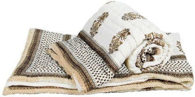 Me Home Floral Double Quilts & Comforters Cream
